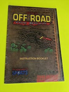 SUPER-OFF-ROAD-BAJA-Instruction-Booklet-Manual-Original-SNES-SUPER-NINTENDO
