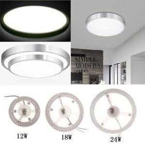 12//18//24W Square LED Ceiling Down Light Flush Mount Home Kitchen Fixture Lamp UK