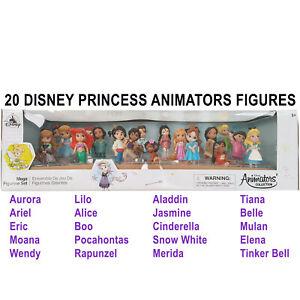 Disney Store Animators Collection Mega Figurine Playset Dolls Set Of 20 Princess