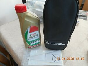 Travel-Emergency-Spare-1Ltr-Castrol-edge-professional-oil-funnel-and-store-case