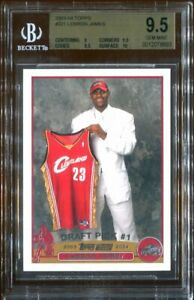 2003-04-Topps-LEBRON-JAMES-221-RC-Rookie-BGS-9-5-GEM-MINT-w-10-Surface