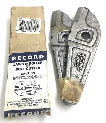MADE IN ENGLAND RECORD REPLACEMENT BOLT CUTTER JAWS /& ROLLER 930H