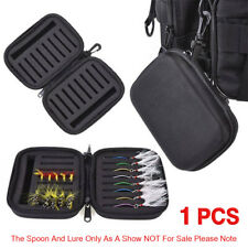 CN/_ Fishing Reel Protect Bag Wheels Gear Padded Hard Case Pouch Tackle Storage