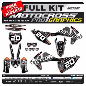 Motorcycle Decals & Stickers KTM SX SXF 125 450 2019 Super durable MX Graphics Decals Stickers Decallab