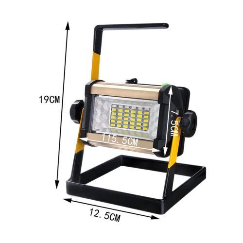 LED Arbeitslampe AKKU Strahler 50W Baustrahler Fluter Handlampe Floodlight
