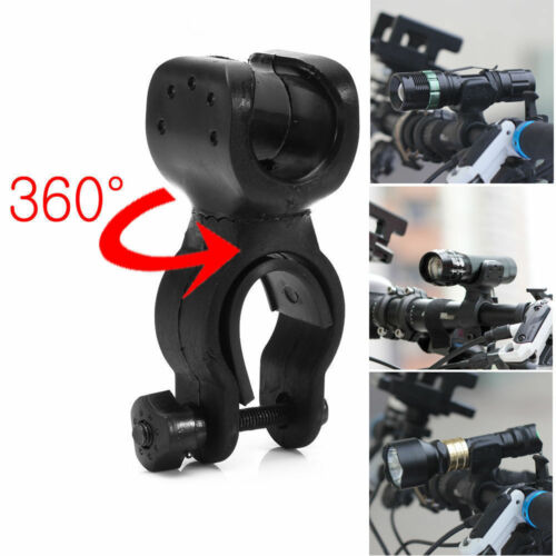 360° Swivel Led Flashlight Holder Bicycle Mountain Bike Mount Torch Clip Clamp