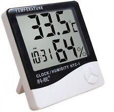 HYGROMETER | Digital Temperature & Humidity Meter + Clock |HTC-1 HD
