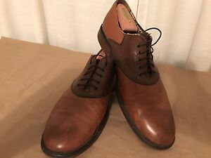 Johnston-amp-Murphy-Conard-Saddle-Men-US-10-5-Tan-and-Brown-Pre-Owned