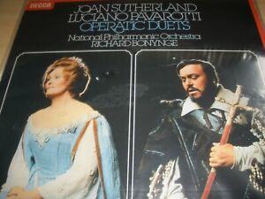 Joan Sutherland & Luciano Pavarotti Operatic Duets Vinyl LP 1977 Decca SXL 6828