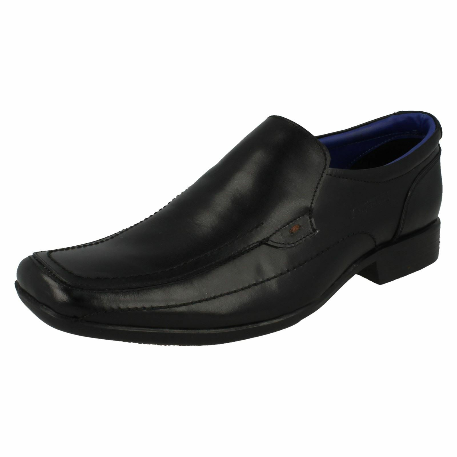 Mens Lambretta Squared Toe Formal Slip On Leather Heeled shoes 20287