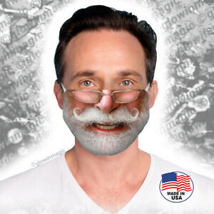 Santa-Claus-Mustache-amp-Glasses-Christmas-face-mouth-mask-Reusable-Soft-Free-Shipng