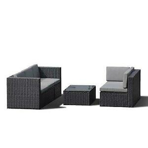 Latitude Run® Elsinore 4 Piece Rattan Sectional Seating Group with Cushions Canada Preview