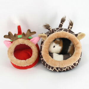 Petit-Animaux-Maison-Lit-Coussin-Oreiller-Chaud-Hiver-Cartoon-Nid-Hamster-Cavia