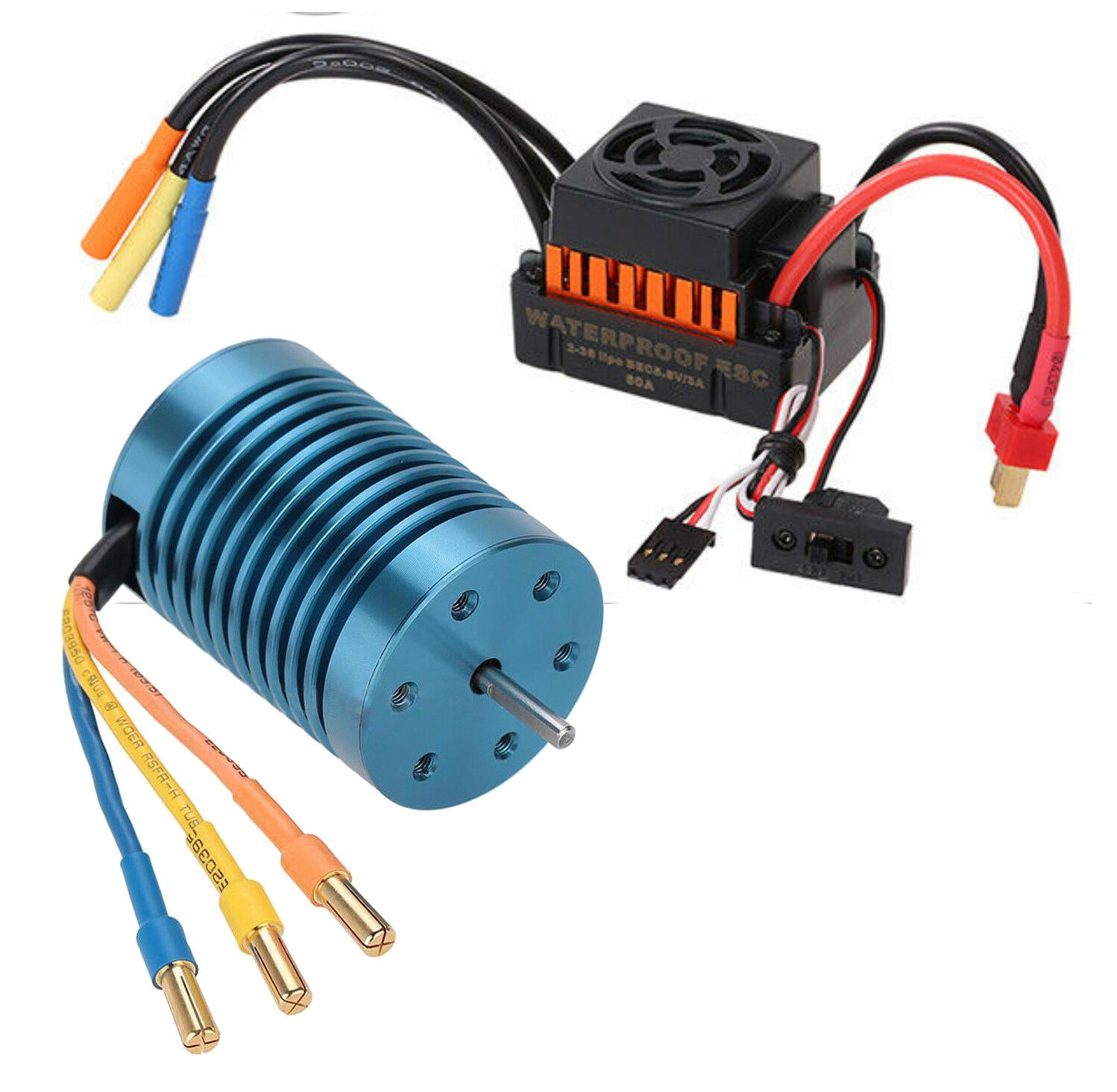 1 10  Rc auto Brushless Esc Motor For Traxxas Slash Stampede Rustler greefoot  spedizione veloce a te