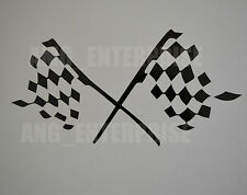 Black Chequered Flag Decal Sticker Vinyl for Saab 93 95 9-3 9-5 90 900 9000 2.3t