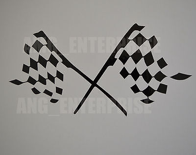 Black Chequered Flag Decal Sticker Vinyl for Subaru BRZ XV Outback Forester 4x4