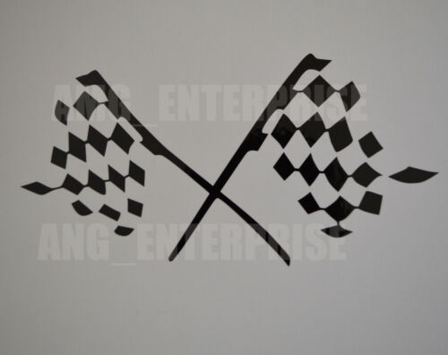 Black Chequered Flag Decal Sticker Vinyl for Mitsubishi ASX Shogun Sport Pinin