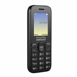 "Alcatel OneTouch 10.16G Mobile Phone Black 1.8"" Screen With FM Unlocked Sim Free"