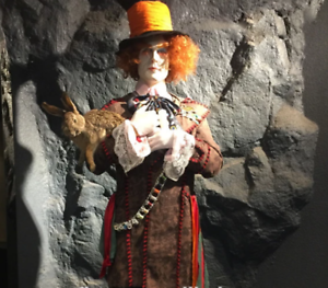 Life Size Johnny Depp Alice Movie Wax Resin Statue Realistic Prop Display 1:1
