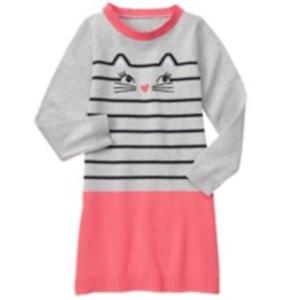 Gymboree Kitty in Pink Sweater Dress Girls Size 4 NEW