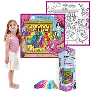 Details About Kids Fantastic Color Washable Coloring Small Mat Girl S World