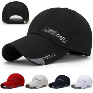 Men-Plain-Washed-Cap-Style-Cotton-Adjustable-Baseball-Cap-Blank-Solid-Hat-Casual