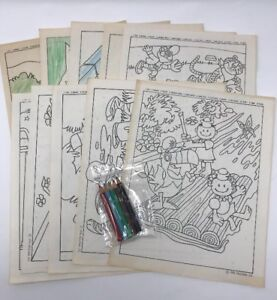 Set of Vintage Kellogg Coloring Pages Sheets 1976 Cereal ...
