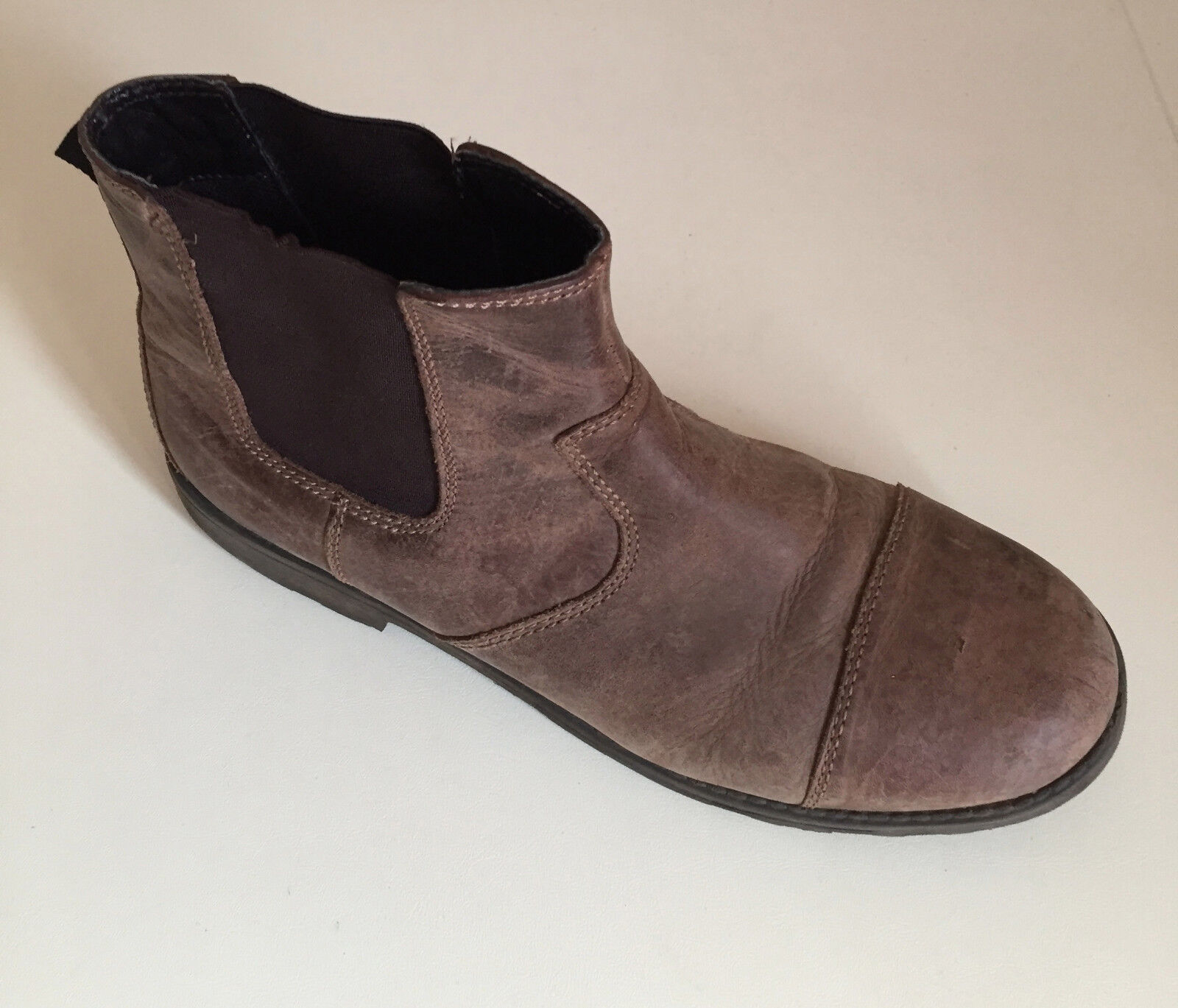 Marks and Spencer en cuir beige Bottines UK 7