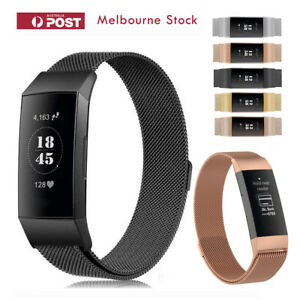 Fitbit-Charge-3-4-SE-Band-Metal-Stainless-Steel-Milanese-Loop-Wristband-Strap