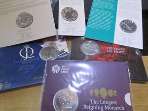 UK-Royal-Mint-SEALED-BUNC-5-FIVE-POUND-COIN-2015-2018-MULTI-LISTING