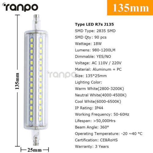 Dimmable R7S J78 J118 J135 LED Flood Light Bulb 110V 220V Replaces Halogen Lamp
