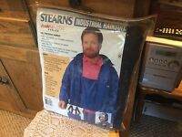 Mens Small Stearns Industrial Rainsuit. Rain Master Series. Model S-5. Navy