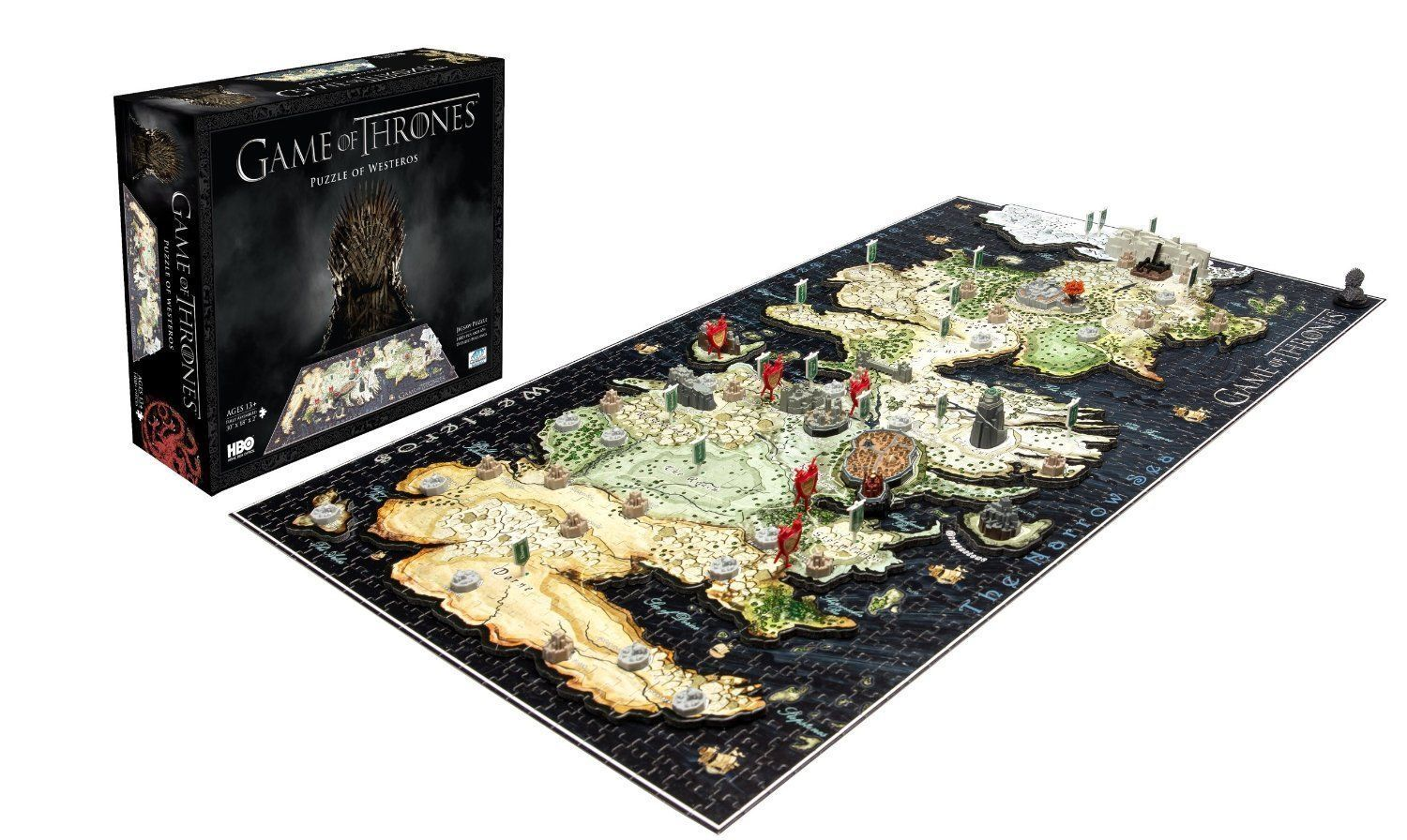 GAME OF THRONES-Puzzle of continente occidentale - 3d Puzzle 4d Cityscape OVP + pellicola in