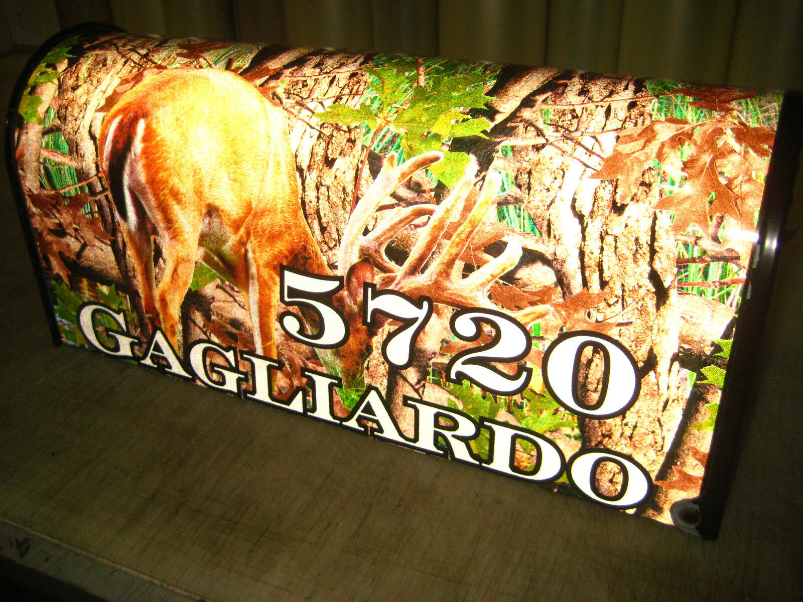 Brand New Metal Mailbox with Reflective Camo along with  Name and House Number  cheap store