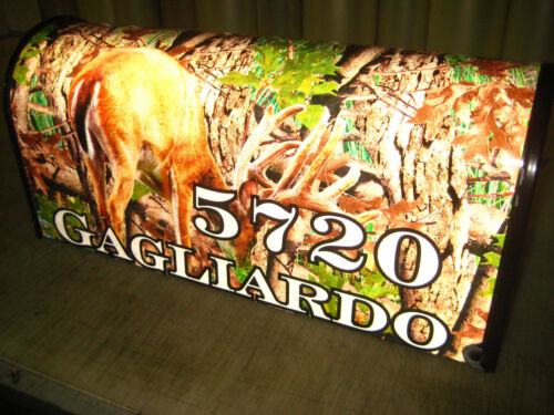 Brand New Metal Mailbox with Reflective Camo along with Name and House Number