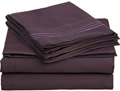 1500 COUNT DEEP POCKET 4 PIECE BED SHEET SET - 12 COLORS AVAILABLE IN ALL SIZES