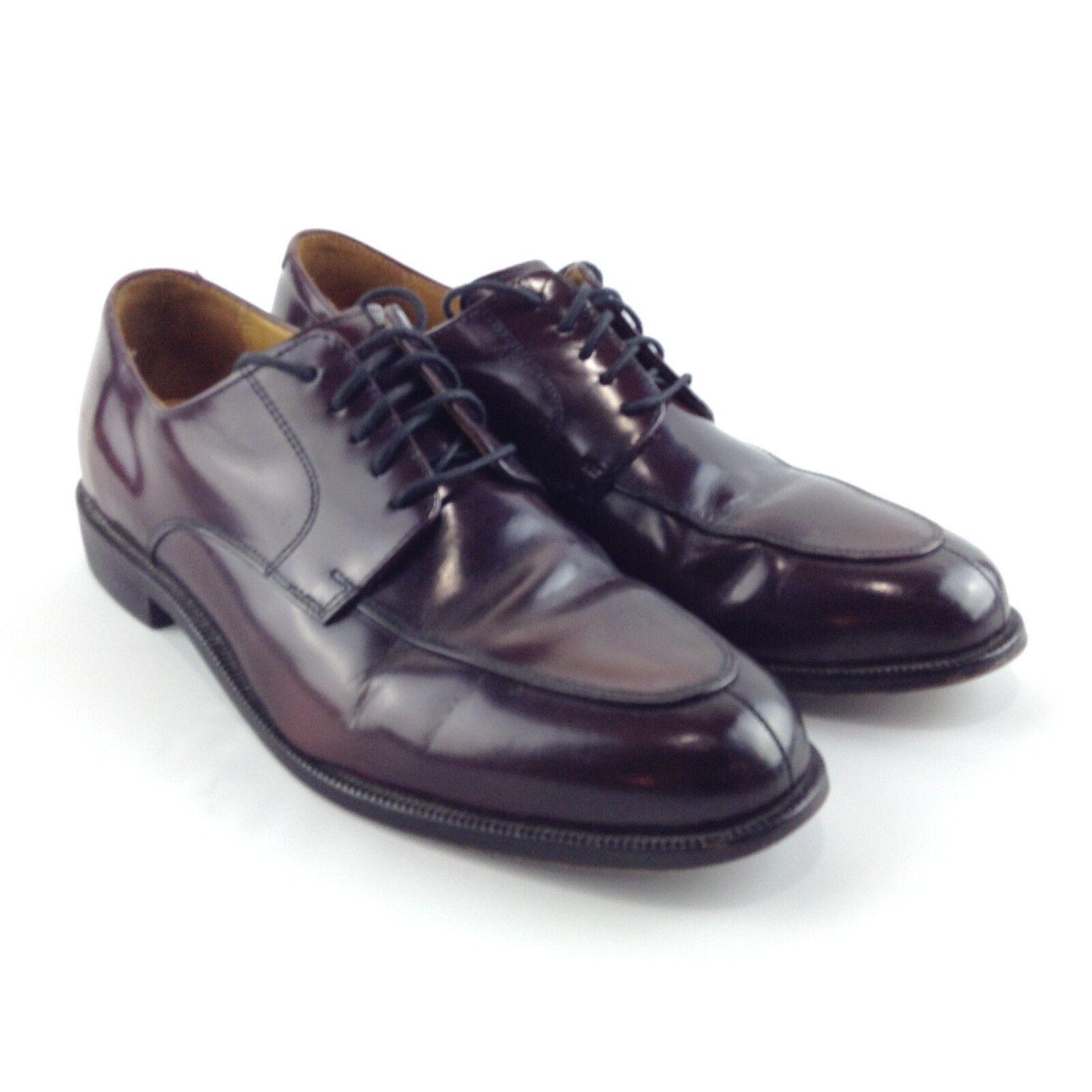 COLE HAAN AIR Men's Dark Burgundy Oxfords Dress shoes Carter Split Size 10M, EUC