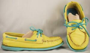 Teal Soles Boat Shoes 8.5 M