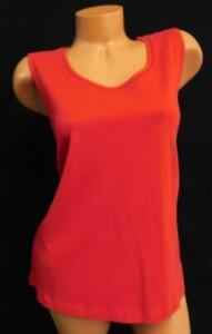 White-stag-red-crochet-trim-round-neck-sleeveless-women-039-s-plus-size-top-XL