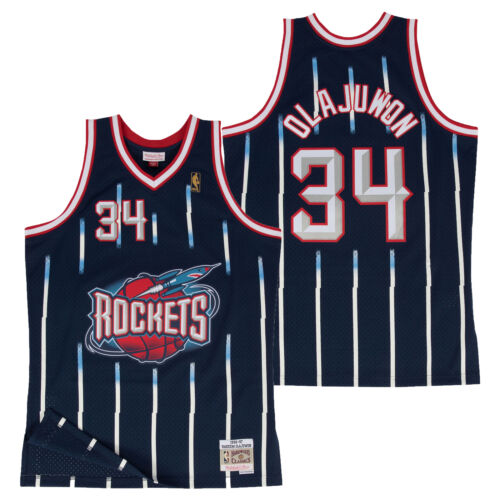 Houston Rockets Hakeem Olajuwon Hardwood Classics Road Swingman Jersey Shirt