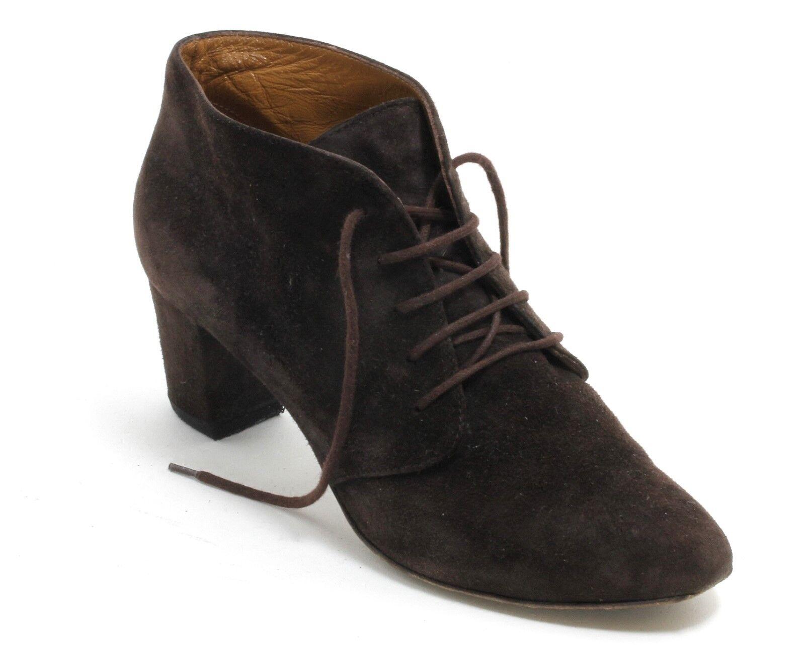 Schnürschuhe Schnürstiefeletten Vintage Schuhe Braun Hobbs London Rauleder 39,5