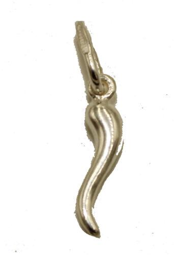 Cornicello Italian Horn .925 Sterling SilverPendant Italian Horn Lucky Pendant