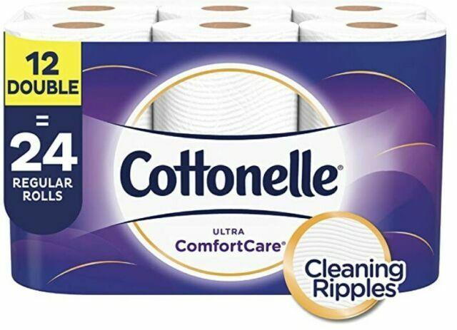 Cottonelle Ultra ComfortCare Soft 2-Ply Toilet Paper - 12 Double Rolls