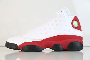 cc74f57a448cd7 Nike Air Jordan Retro 13 Chicago Bulls White True Red BG GS 414574 ...