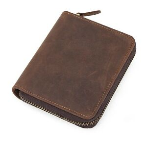 Retro-Real-Cowhide-Leather-Mens-Wallet-Notecase-coin-PocketsID-Cards-Money-Clip