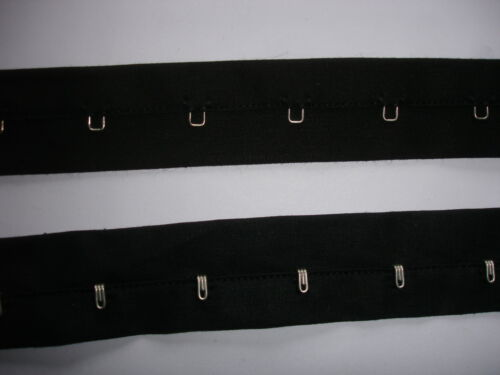 Korsagenband Haken und Ösen Miederband schwarz