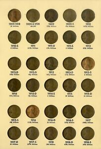 US-Coins-Lincoln-Cent-Complete-Collection-1909-67-w-09-S-VDB-1955-55-in-2-Album