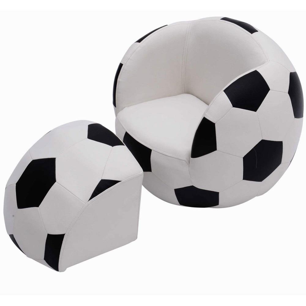 Homcom Enfants Football chaise fauteuil canapé et tabouret Sport Thème Enfants