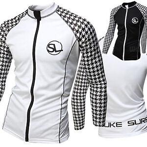 New Mens Zip Up Beach Wear Water Sports Rash Wetsuits Guard Swimwear W601 S//M