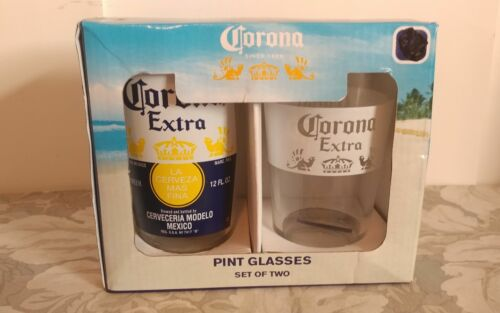 NIB Corona Extra Set of 2 Pint Glasses